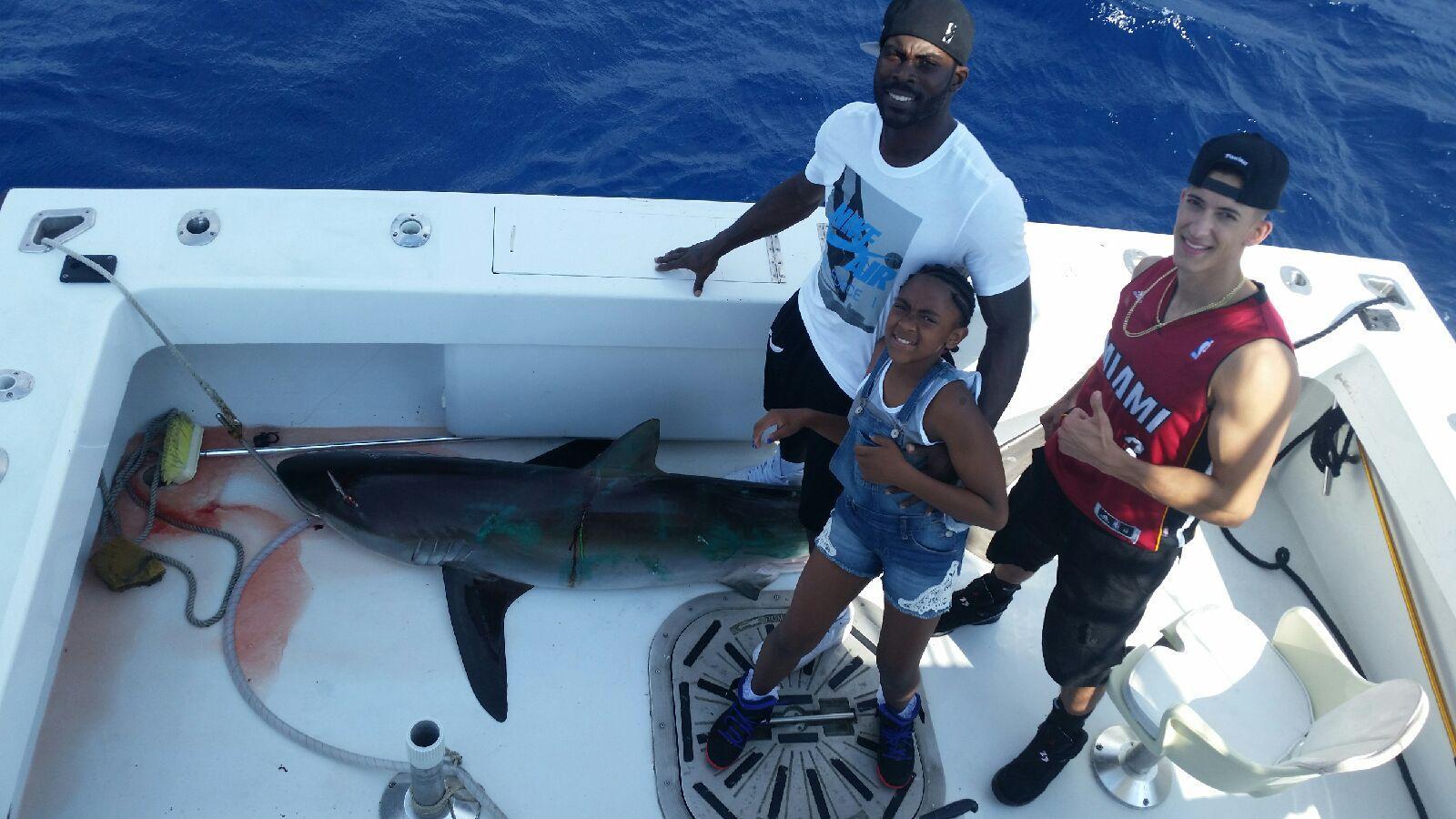 michael & vick while fishing
