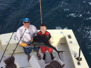 One Of two sailfish caught trolling